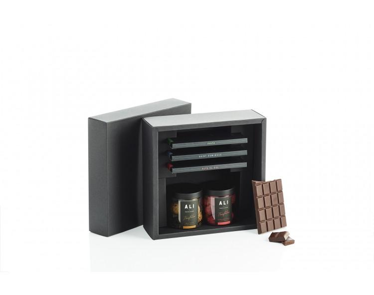 triufelių-ir-šokolado-dovanų-rinkinys